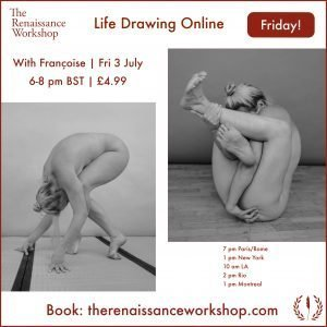 3/7/2020 | 6-8 p.m : Live Tutored Life Drawing on Zoom with Françoise