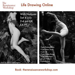 4/7/2020 | 2-4 p.m : Live Tutored Life Drawing on Zoom with model Natsumi