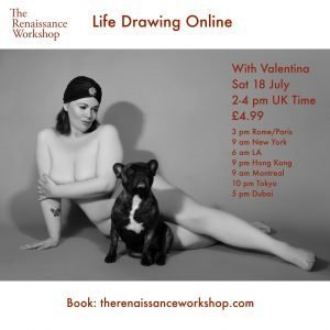 18/7/2020 | 2-4 p.m : Live Tutored Life Drawing on Zoom with model Valentina